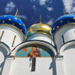 Domes of an orthodox church - Russia — Stock Photo
