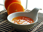 Orange jelly — Stock Photo