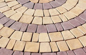 Stonestone; paving; square; backgrounds; sidewalk; rough; old; color; ima — Stockfoto