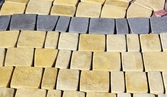 Stonestone; paving; square; backgrounds; sidewalk; rough; old; color; ima — Stock Photo