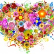 Floral heart shape — Stock Photo #4121603