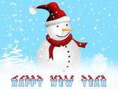 New year postcard — Stock Photo