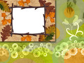 Abstract floral background card — Stock Photo