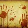Stock Photo: Blooded handprints texture