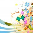 Stock Photo: Abstract colored floral background