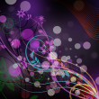 Stock Photo: Abstract purple floral background