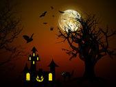 Halloween night scene — Stock Photo