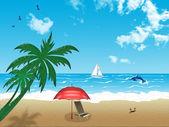 Summer beach vacation — Stock Photo