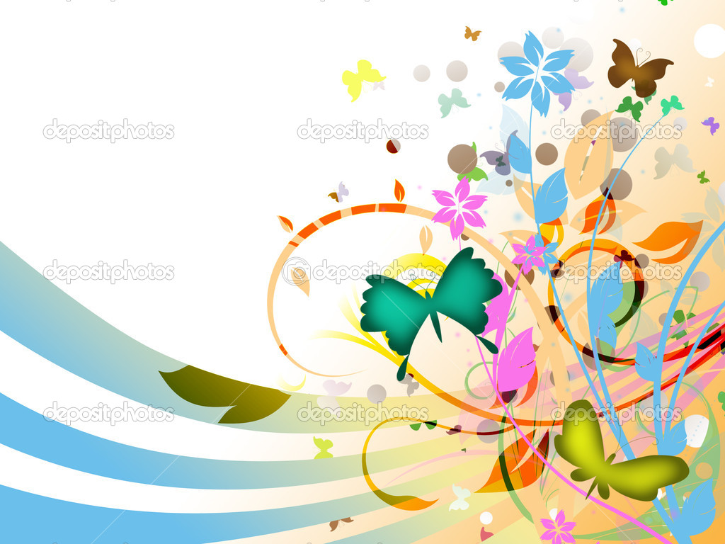 Abstract colored floral background  — Stock Photo #4178483