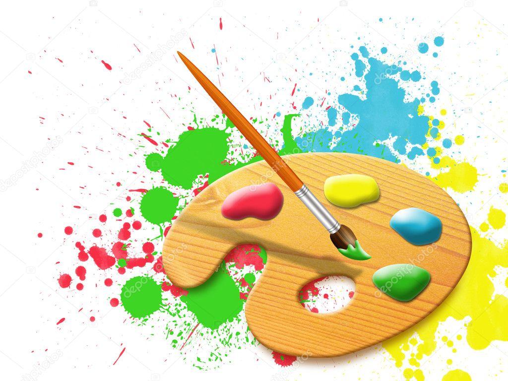Chevalet - palette de peinture — Photographie alinbrotea ...