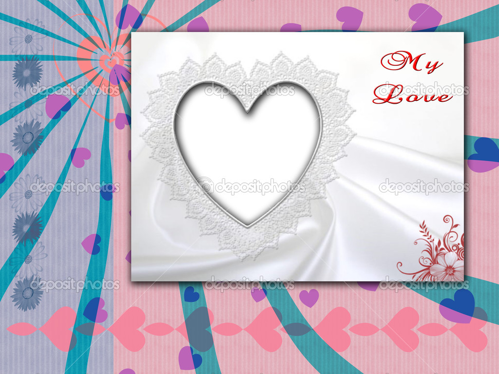 Loveli pink Valentine day card  — Stock Photo #4178704