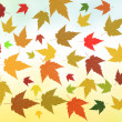 Autumn rusty leaves pattern - Stock Photo