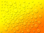 Dew drops on the yellow background — Stock Photo