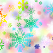 Happy christmas bokeh background — Stock Photo