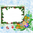 Card for the Winter holiday - christmas card with flowers — Stock Photo