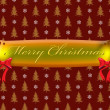 Stock Photo: Merry Christmas text on golden banner