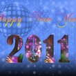 Stock Photo: 2011 Happy New Year illustration