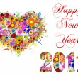 2011 Happy New Year illustration — Stock Photo #4402737