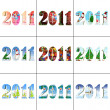 2011 new year number — Stock Photo