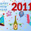 2011 Happy New Year illustration — Stock Photo