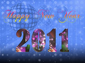 2011 Happy New Year illustration — Stock Photo