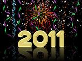 Ilustración de feliz año nuevo 2011 — Foto de Stock