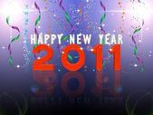 Ilustrace šťastný nový rok 2011 — Stock fotografie
