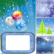 Royalty-Free Stock Photo: Collage illustration of winter season