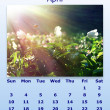 April month 2011 calendar — Stock Photo