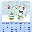 December month 2011 calendar - Stock Photo