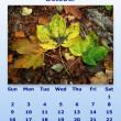 October month 2011 calendar — Stock Photo