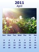 April month 2011 calendar — Stockfoto