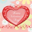 Valentine`s day card greetings illustration — Zdjęcie stockowe