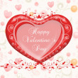 Valentine`s day card greetings illustration — Stok fotoğraf