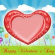 Valentine`s day card greetings illustration — ストック写真