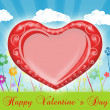 Valentine`s day card greetings illustration — 图库照片
