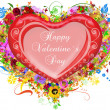 Valentine`s day card greetings illustration — Stock Photo