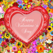 Valentine`s day card greetings illustration — Stockfoto
