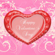 Valentine`s day card greetings illustration — Stock Photo #4735956
