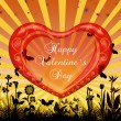 Stock Photo: Valentine`s day card greetings illustration