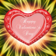 Valentine`s day card greetings illustration — Stock Photo #4735967