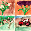 Spring season - hand watercolor painting — Stock Photo #4823442