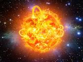 Wybuch słoneczny — Zdjęcie stockowe