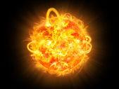 Explosão solar — Fotografia Stock