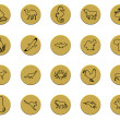 Collection of various animals golden badge signs — Stock Photo #5045980
