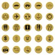 Royalty-Free Stock Photo: Collection of various golden badge signs