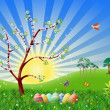 Easter nature spring illustration — Stock Photo