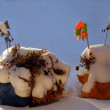 Stock Photo: Still- life in snow