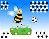Soccer bee — Stock Photo