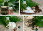 A spa and aromatherapy collage. — Stock Photo